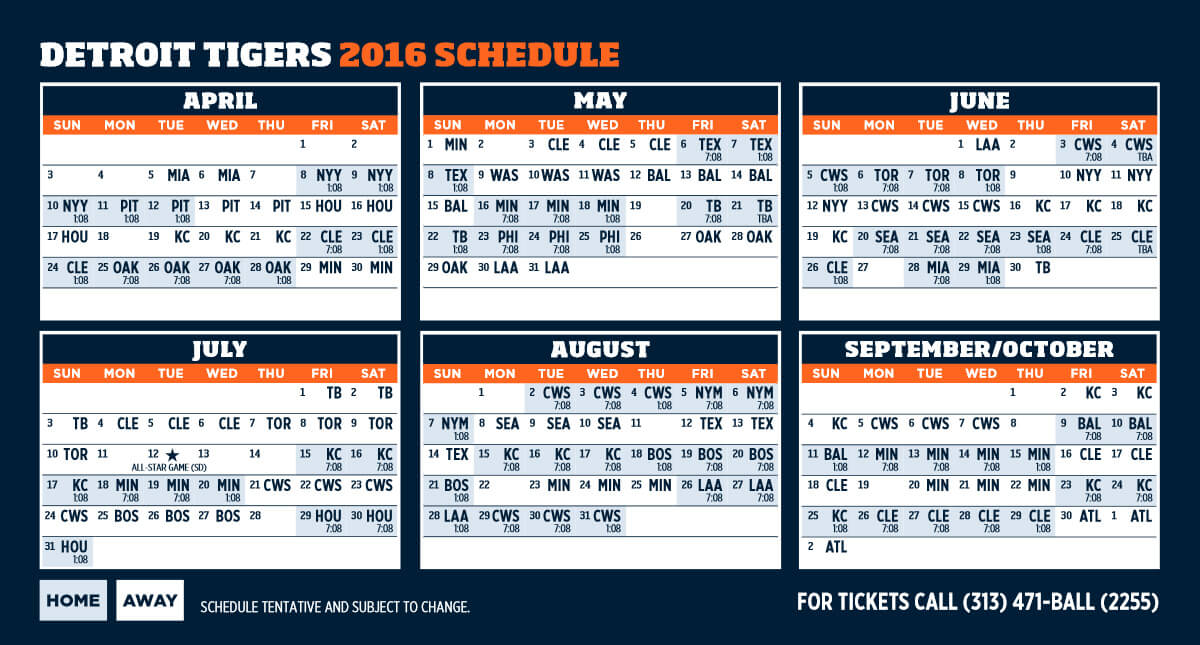 picture about Printable Detroit Tigers Schedule named Detroit Tigers Shedule - Excellent Endure and Tiger India Good friends Zone